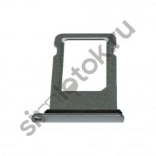 Сим лоток для Iphone 8 серебристый (Silver)