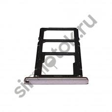 Сим лоток для Asus Zenfone Max Pro M1 серебристый (Meteor Silver)