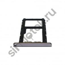 Сим лоток для Asus Zenfone 5 Ze620kl серебристый (Meteor Silver)