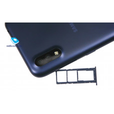 Сим лоток для Samsung A01 синий