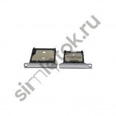 Сим лоток для HTC One A9 белый (silver)