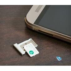 Сим лоток для HTC One M9 золотой (Gold Silver)