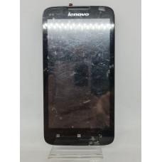 Дисплей в рамке для Lenovo A680 оригинал черный б/у