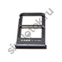 Сим лоток для Meizu X8 M852h черный (Black)