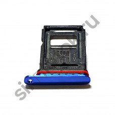 Сим лоток для OnePlus 7 Pro синий (Nebula Blue)