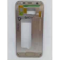 Рамка дисплея для Samsung S7 оригинал золотая б/у