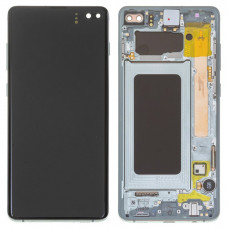 Дисплей в рамке для Samsung S10 Plus зеленый оригинал новый