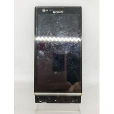 Дисплей в рамке для Sony P  оригинал черный Б/у