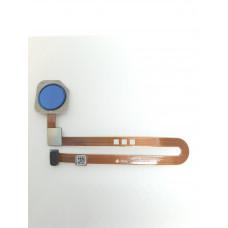 Сканер отпечатков для Xiaomi Mi8 синий оригинал б/у