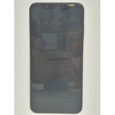 Рамка дисплея для Xiaomi Mi8 оригинал черная б/у