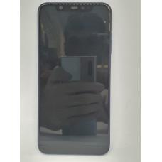 Рамка дисплея для Xiaomi Mi8 оригинал синяя б/у