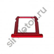 Сим лоток для Xiaomi Mi A2 красный (Red)